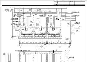 某水厂改建虹吸滤池工程给排水施工图