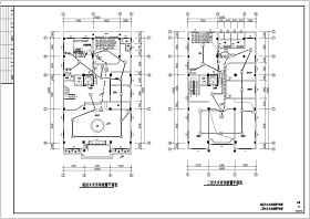 某四层商业建筑火灾自动报警及消防广播系统施工图