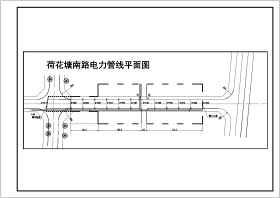 某道路結構斷面給排水整套建筑設計cad施工圖