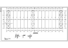 30m跨單層輕鋼結構廠房結構設計施工圖