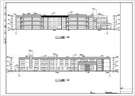 某地3层框架结构12班幼儿园教学楼建筑方案图