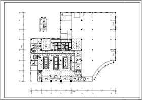 四星酒店大堂装修设计CAD施工图
