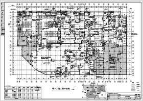 上海某地块商场地下室人防建筑设计施工图纸
