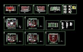 某城建圖書館設計cad建筑方案圖