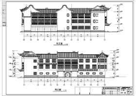 上海桥梓湾商城会所仿古建筑施工图