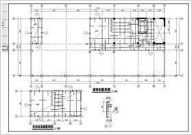 地下1层地上13层框剪商贸大厦结构cad施工图