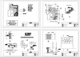 园林景观座椅施工节点图