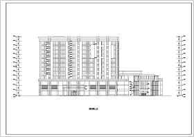 湘潭市某地十二层框架结构综合酒店公寓建筑设计施工图纸
