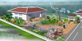别墅庭院园林景观效果图