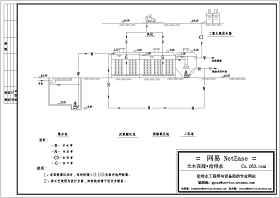 安徽某医院污水处理流程图 废水处理工程施工图