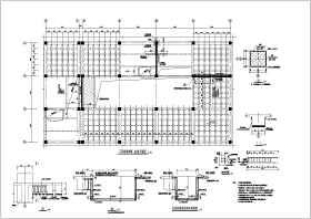 某大型賣場改造加固結構設計施工圖