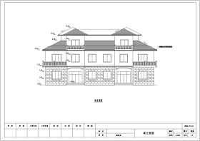 某地三層磚混結構別墅建筑結構施工圖