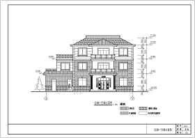 某地區三層農村別墅建筑結構施工圖