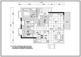 某三室兩廳裝修設計施工圖紙