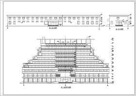 十层框架结构酒店毕业设计建筑方案图