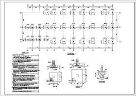 某地二層框架結構階梯教室結構設計施工圖