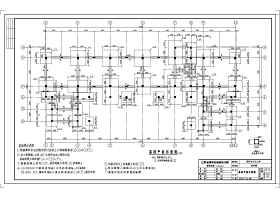 溧陽市四層框架結構教學樓結構施工圖
