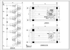 某新增多层旋转楼梯钢结构设计施工图