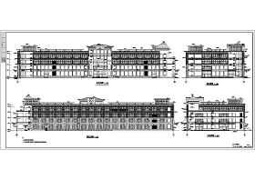 某地区四层大型商场建筑设计方案图