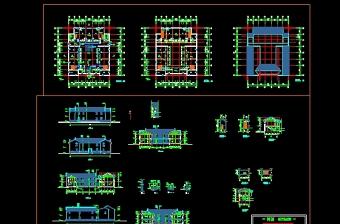 仿古建筑施工图