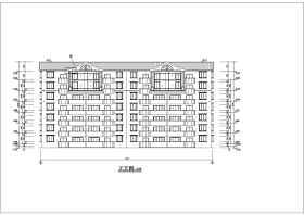 某房屋建筑學課程設計住宅樓方案圖