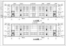 畫室與辦公室建筑設計施工圖