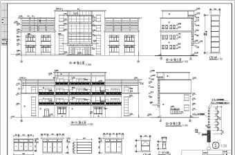 某公司四层框架结构办公楼建筑设计方案图