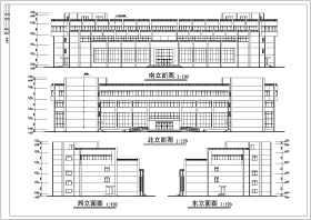 某地三层框架结构商务酒店建筑施工图