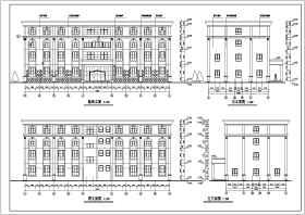 小型多层酒店综合楼建筑施工图