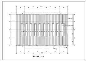某轻钢单层车库设计cad建筑结构施工图