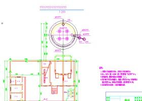 泵房、蓄水池及管理站房布置圖