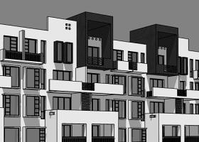 現代徽派建筑SU模型