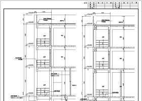某工厂餐厅及宿舍楼建筑结构施工图