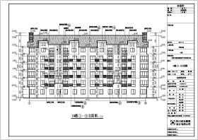某小区两套多层住宅楼建筑设计方案图纸