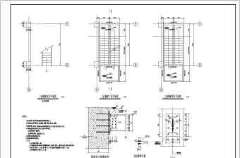 某新增室外钢结构楼梯结构施工图纸