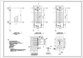 某新增室外鋼結構樓梯結構施工圖紙