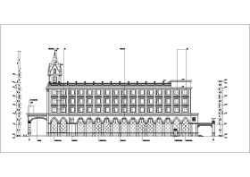 某地五层框架结构欧式酒店建筑设计方案图纸