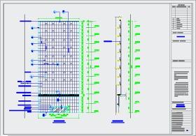 某综合办公楼玻璃幕墙建筑设计施工图