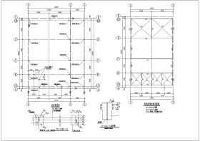 某地单层高低跨钢结构锅炉房结构施工图