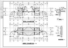 某学校学生生活区大门建筑设计施工图