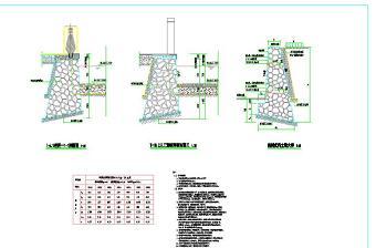 毛石挡土墙结构图
