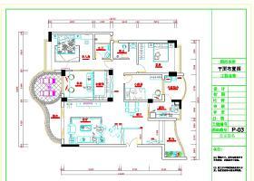 现代中式风格室内装修设计施工图