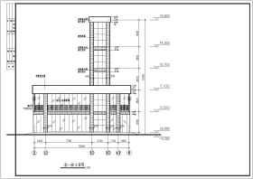 某地鋼框架結構電梯結構設計施工圖