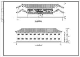 北方框架结构仿古建筑方案设计图节点