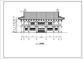 某地两层框架结构仿古建筑设计施工图纸