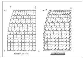 某地区酒店屋顶空间网架结构施工图纸