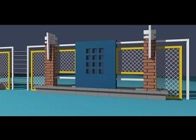 围墙模型平面及3D素材