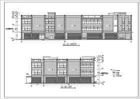 某地区三层框架结构超市建筑设计施工图