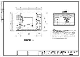 某三层办公楼弱电及安防设计施工图