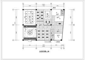 辦公室精裝修裝飾設計施工CAD圖紙